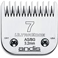 Andis Carbon Infused Steel UltraEdge Dog Clipper Blade, Size-7 Skip Tooth, 1/8-Inch Cut Length (64080)
