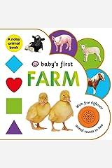 Baby's First Sound Book: Farm Board book