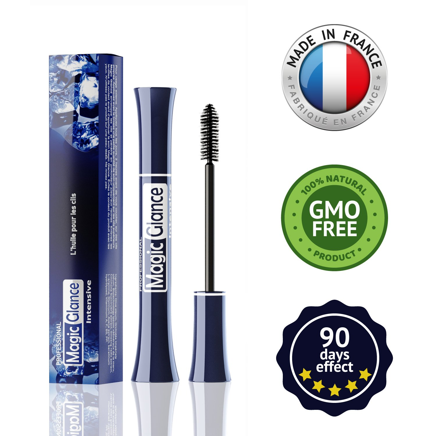 Natural Eyebrow and Eyelash Growth Serum Boost Enhancer for Full, Long, Thick & Luscious Lashes — Unique formula — L-ARGININE — Fast Results in 10 Days — Rapid Lash Growth, Healing, Treatment & Care