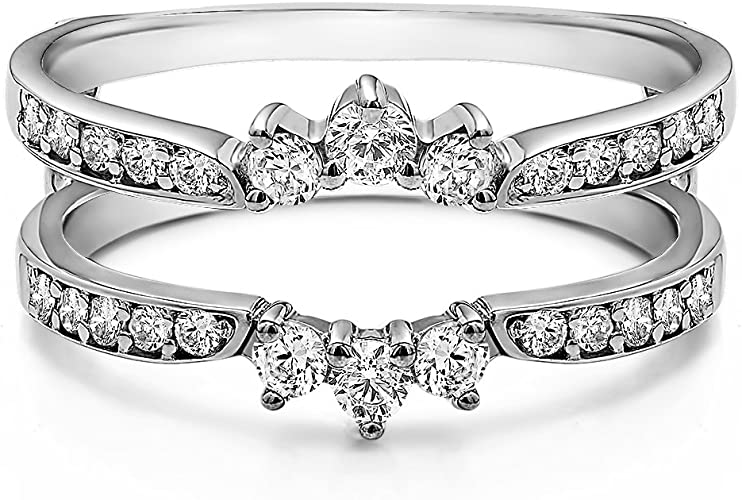 WHITE SAPPHIRE ENGAGEMENT WEDDING BAND RING SZ 6 BUY 2 FOR GUARDS SEE STORE />/>/>