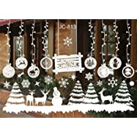 Eenkula NoeL Boule De Neige Stickers Muraux Amovibles Mur De FeneTres En Vinyle De La Maison Autocollants DeCalcomanie DeCoration