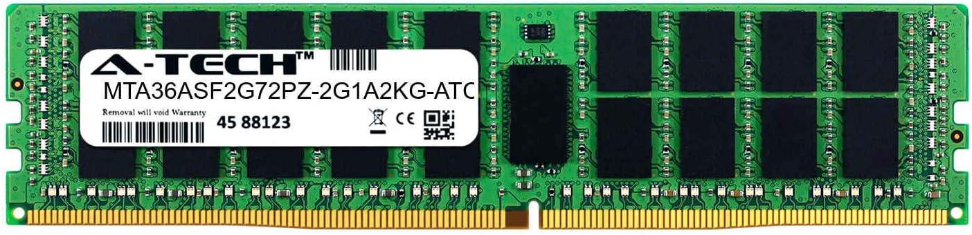 DDR4 2133MHz PC4-17000 ECC Registered RDIMM 2rx4 1.2v MTA36ASF2G72PZ-2G1A2KG-ATC Single Server Memory Ram Stick A-Tech 16GB Replacement for Micron MTA36ASF2G72PZ-2G1A2KG