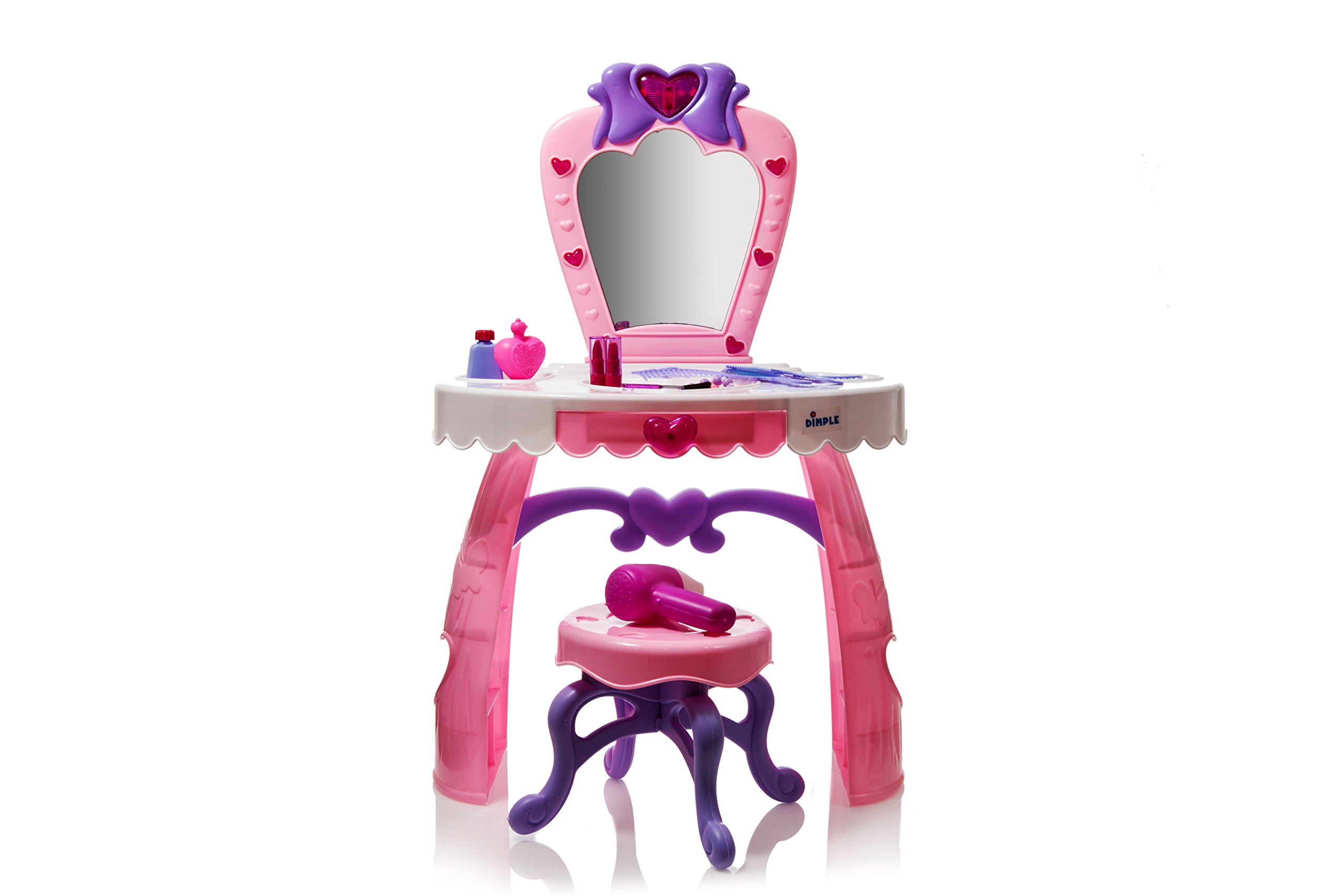 Dream Dresser Vanity Set with 14 Fashion & Makeup Accessories, Music & Flashing Lights by Dimple
