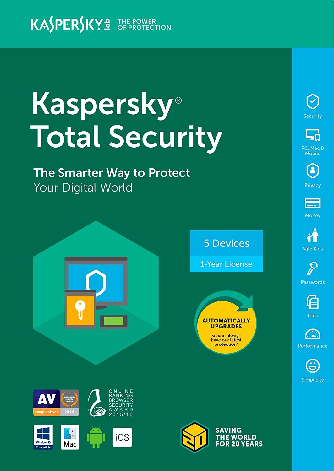 Kaspersky KL1919AOEFS-1821UZC Total Security 2018 5 Device/1 Year [Key Code]
