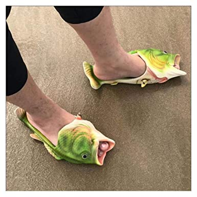 eb303daa9110 Image Unavailable. Image not available for. Color  FidgetGear Unisex fish  style beach slippers breathable summer sandals pool Flip flops 7