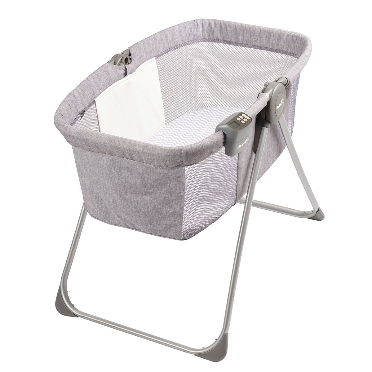 Evenflo Loft Portable Bassinet, Grey Melange