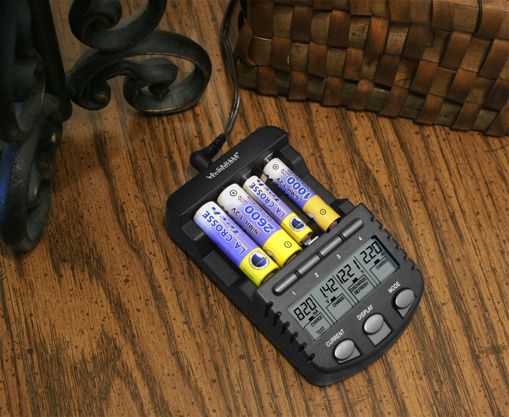 La Crosse Technology Bc700 Cbp Alpha Power Battery 200ma Hour 8211 12v Nicad Charger Home Audio Theater