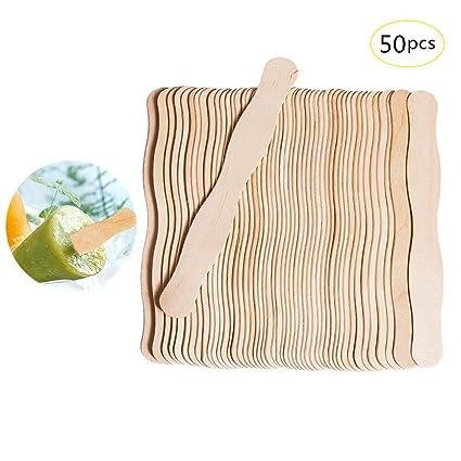 f7de75c1e6b2a Starter 50 piezas artesanales palos palos de helado Palitos de paleta de  madera 200   30
