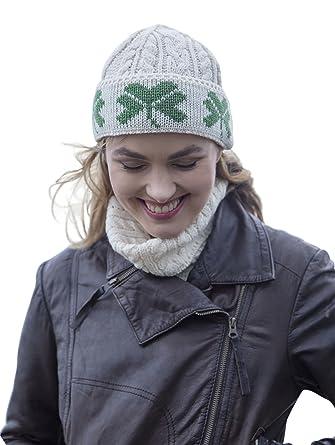 1e76676e4e5 Amazon.com  Wool Irish Shamrock Beanie  Clothing