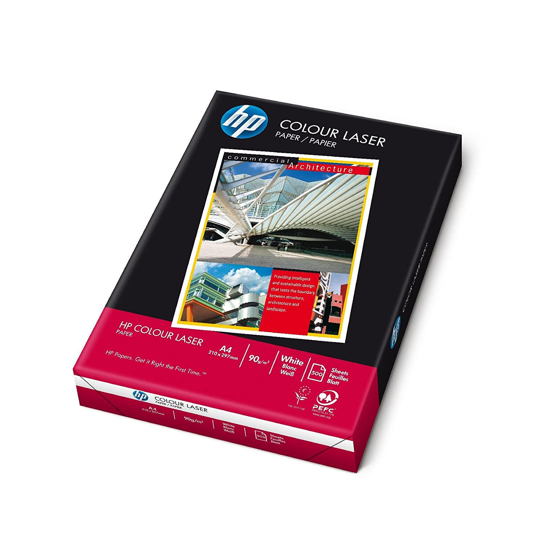 hewlett packard 90gsm a4 white colour laser copier paper 1 box