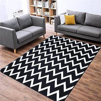 QAZ Hochwertige Super Weiche Decke Einfache Moderne Schwarz Weiß  Gestreiften Teppich Wohnzimmer Sofa Couchtisch Schlafzimmer Bett