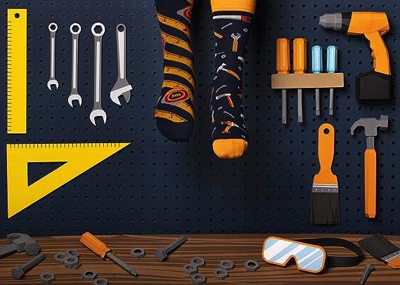 coton perceuse Many Mornings The Handyman Chaussettes multicolores avec outils marteau cl/é