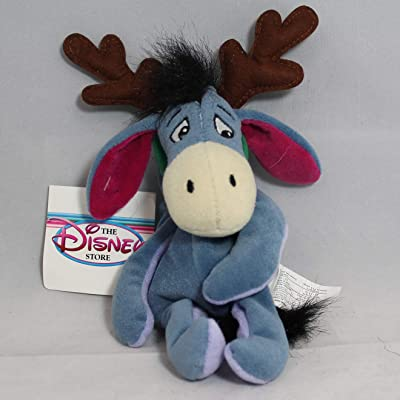 "Disney Bean Bag Plush Eeyore As a Reindeer 9"": Toys & Games"