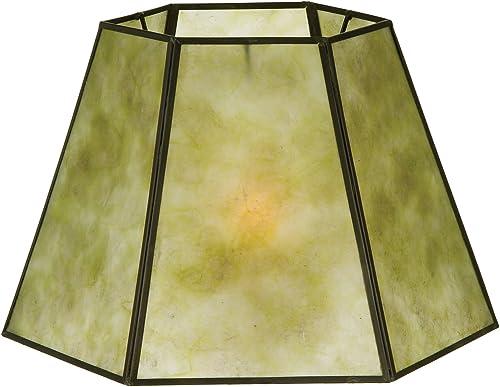 B P Lamp Hexagon Style Mica Lampshade