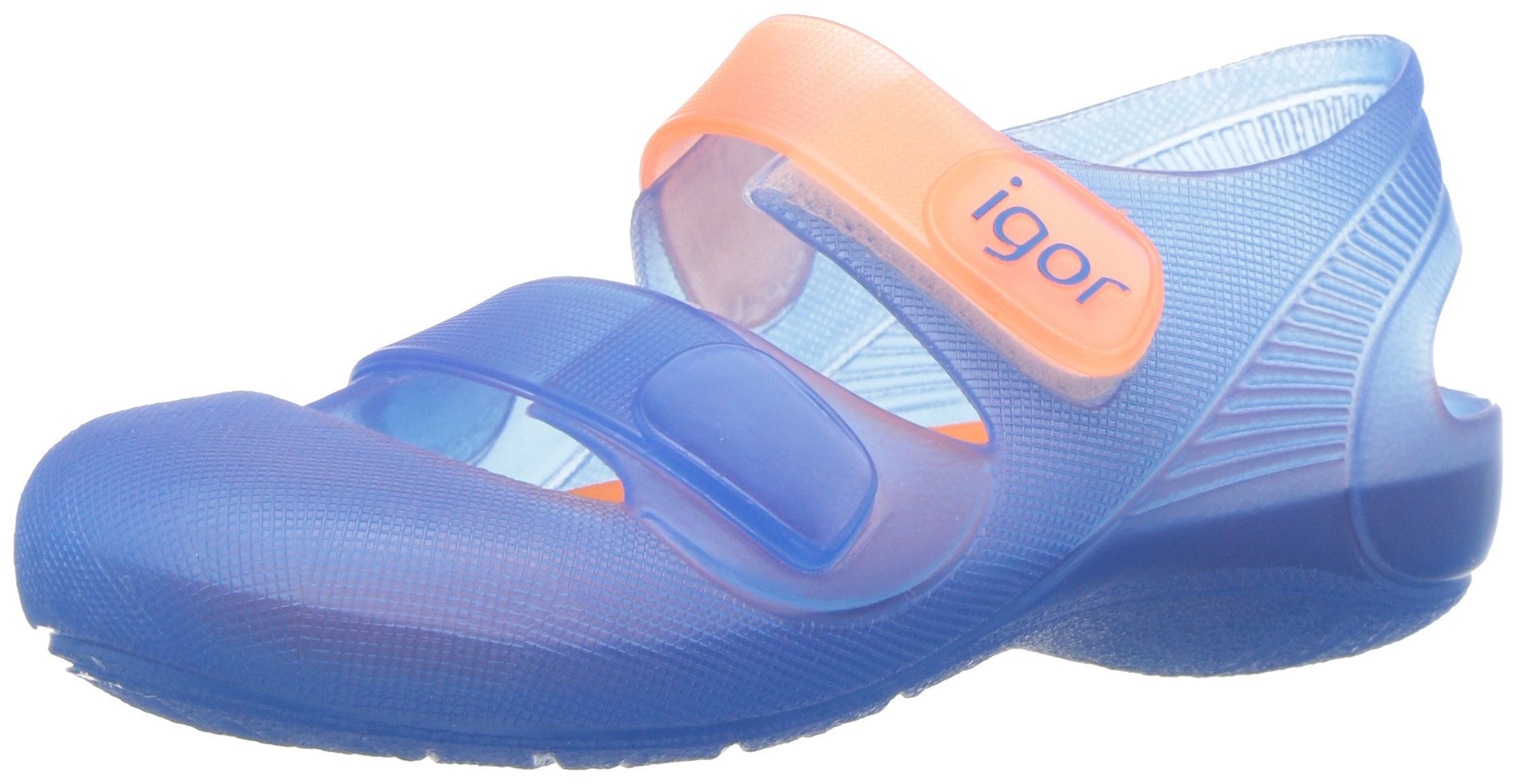 Igor Boys' S10146 Bondi Sandal, Light Blue/Orange, 25 M EU/8 M US Toddler