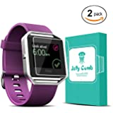 Screen Protector for Fitbit Blaze Smart Watch, Jelly Comb Tempered Glass 2.5D, HD Ultra Clear Film, 2-PACK