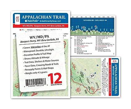 Appalachian Trail Map AT-12- Harpers Ferry WV - Carlisle PA AT Pocket  Profile
