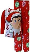 Elf on the Shelf Red Toddler Fleece Holiday Pajamas for Little Girls
