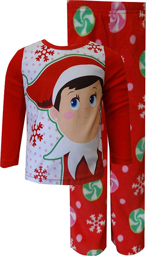 Elf on the Shelf Red Toddler Fleece Holiday Pajamas