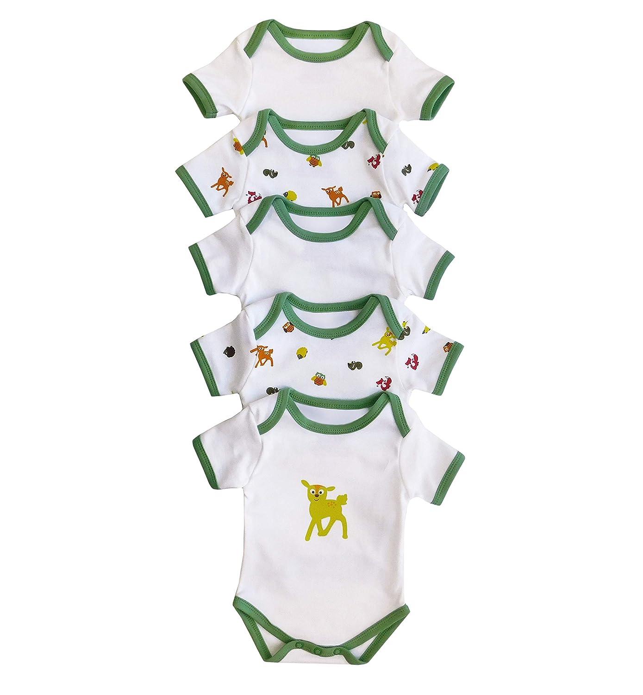 Slumberbaby Baby Body Maniche corte GUFO Pacco da 5 taglia 1: 62cm Slumbersac