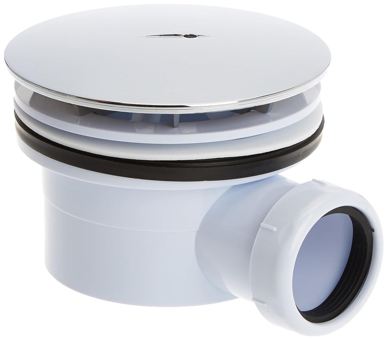 The Living Design H7 Valve pour tuyau d' é coulement plat pour douches, en quartz, de 90 cm, couleur chromé e de 90cm couleur chromée BigMat Tevisa 910835