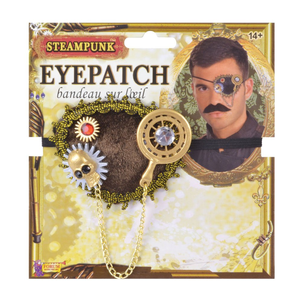 taille unique Multicolore Bristol Novelty Md236/Steampunk Eye Patch homme