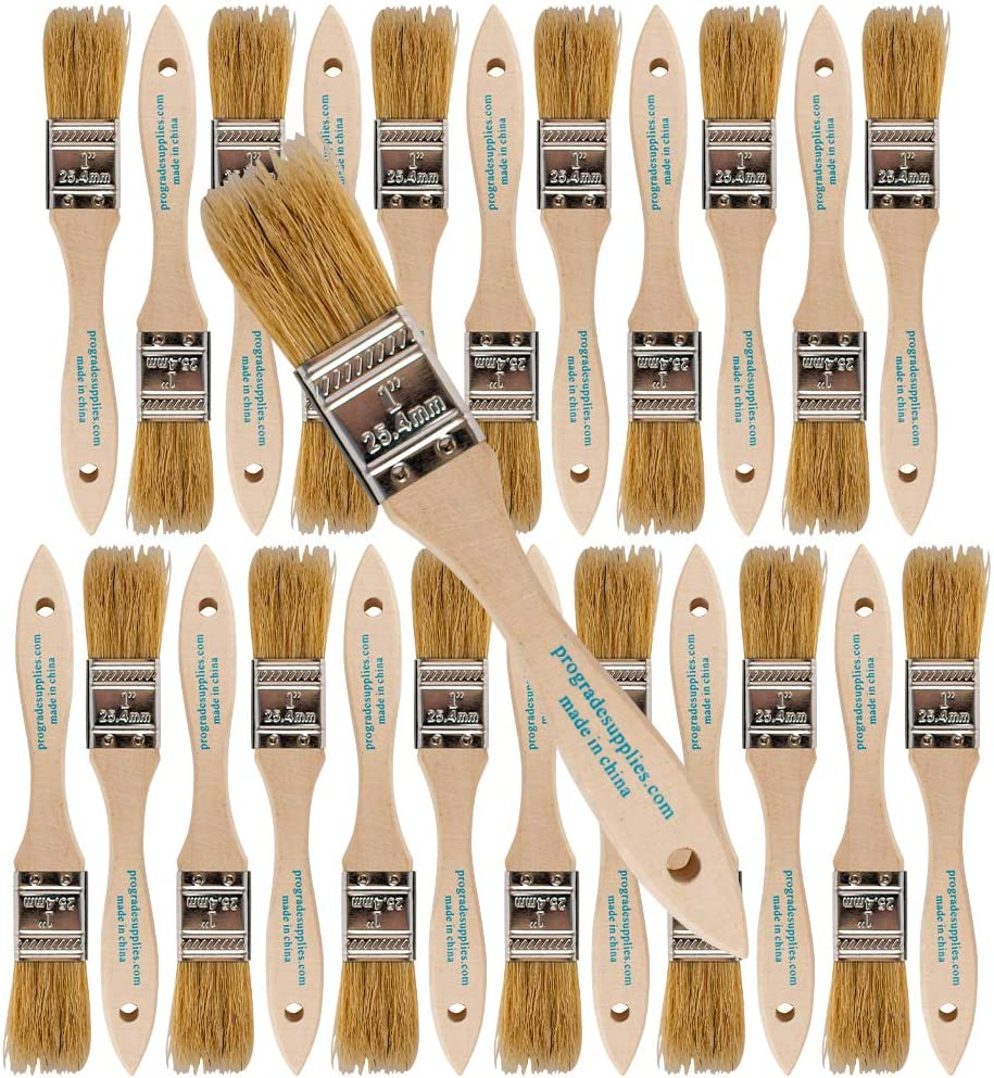 Pro Grade - Chip Paint Brushes - 24 Ea 1 Inch Chip Paint Brush: Kitchen & Dining