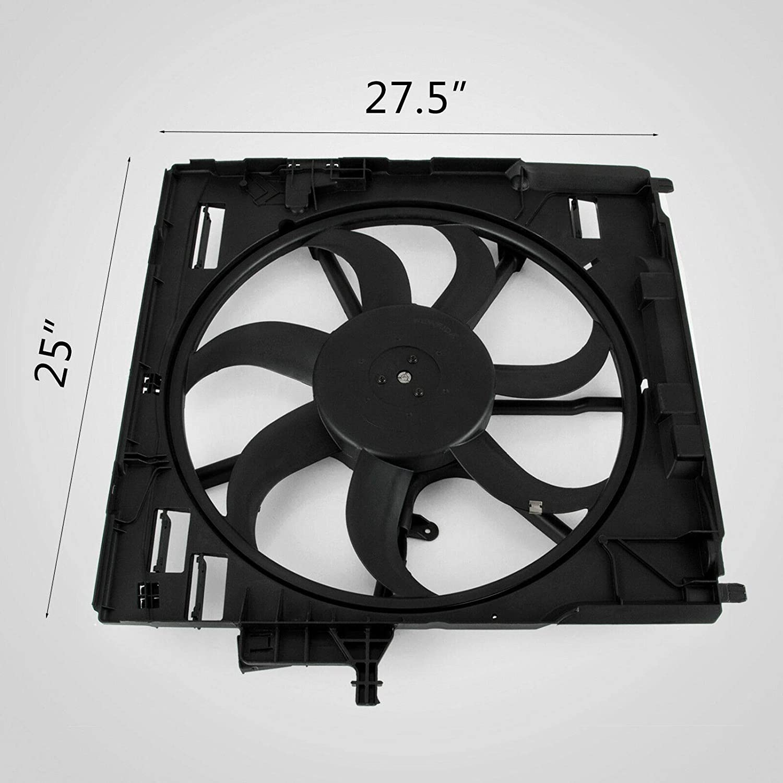 Mophorn Radiator Cooling Motor Fan Fit for BMW Radiator E70 X5 07-10 17428618240