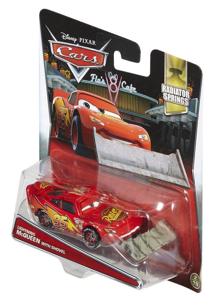 Disney//Pixar Cars Radiator Springs Die-Cast Lightning McQueen with Shovel Vehicle Mattel DVV66