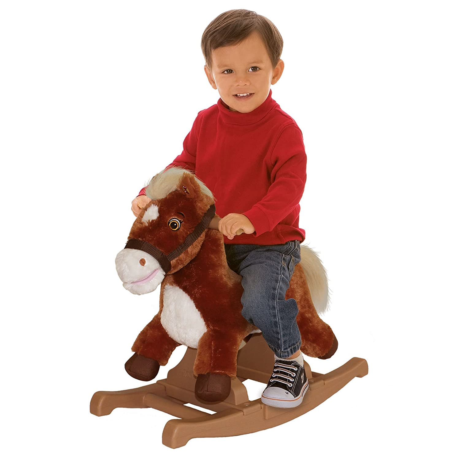 amazoncom rockin' rider brown rocking pony toys  games -