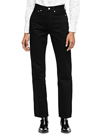 Calvin Klein Women s High Rise Straight Fit Jeans at Amazon Women s ... 96aeec858d