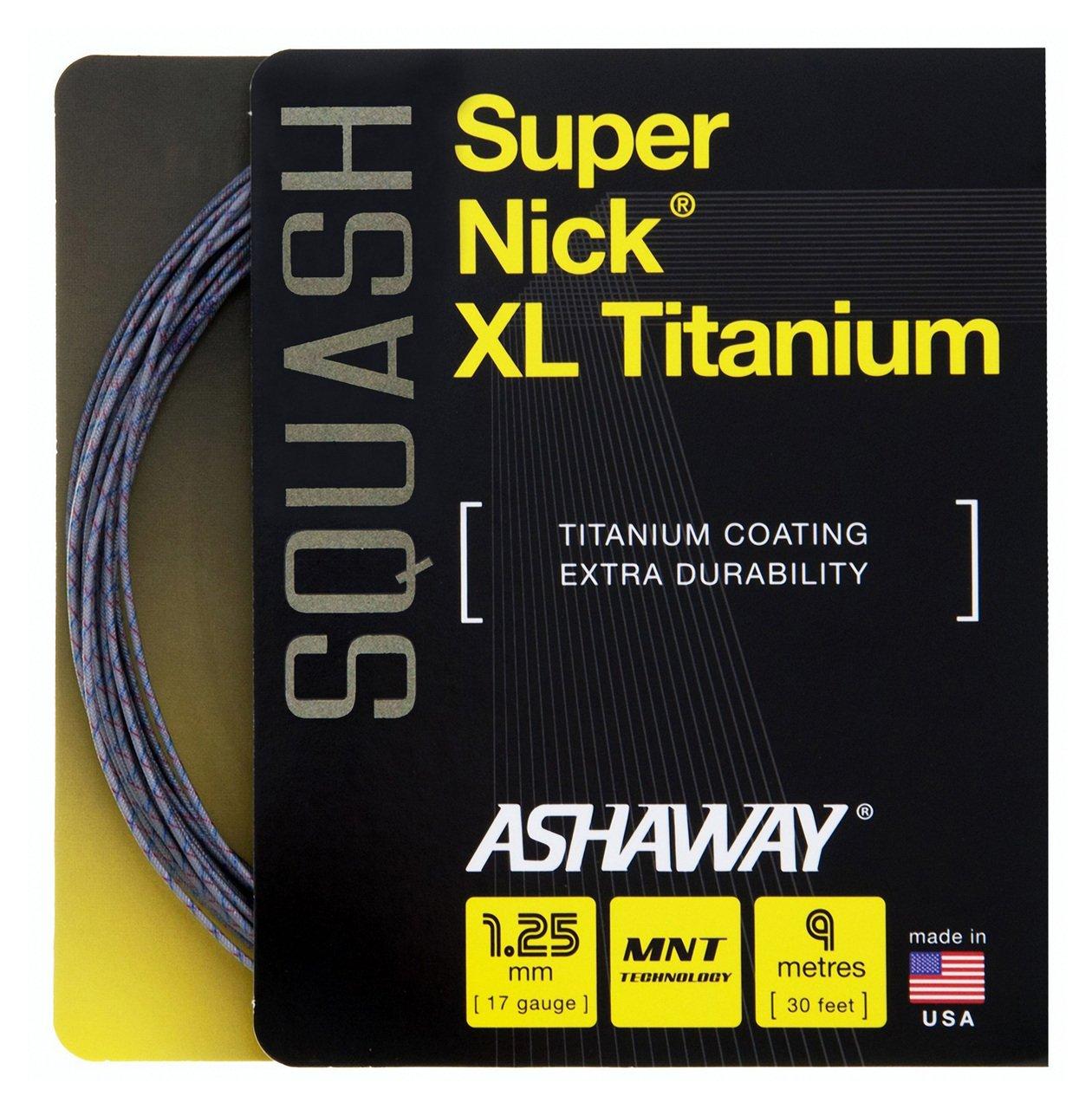 Ashaway SuperNick XL Titanium Squash Set - 17/1.25mm