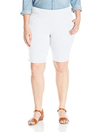 55c8bbc298 Jag Jeans Women's Plus-Size WM Ainsley Pull-On Bermuda Short In Bay ...