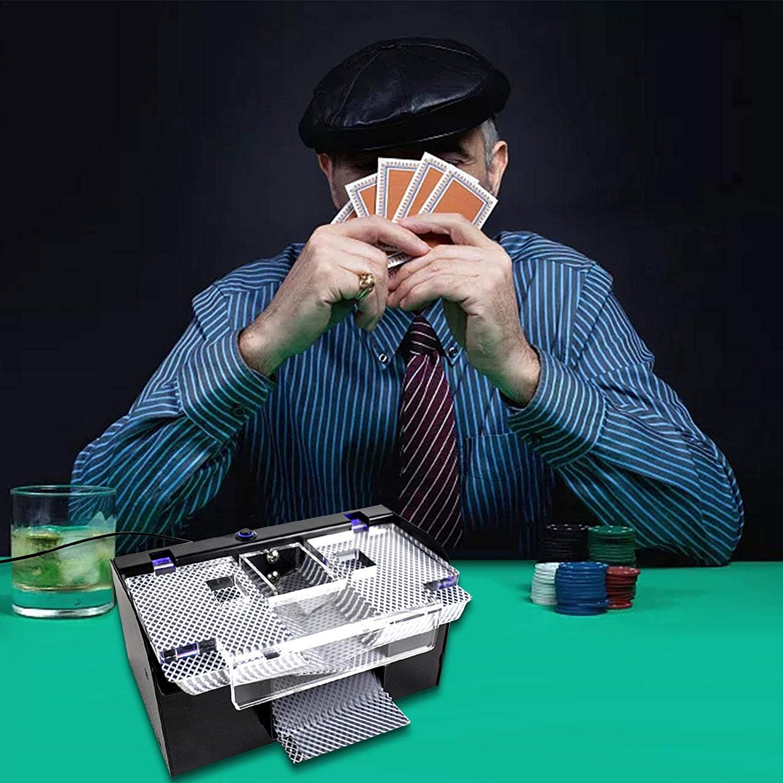 Romm/é Und Blackjack Verwendet Poker Kartenmischer Elektrisches Kartenmischger/ät Profi Kartenmischmaschine 2 Decks Wird F/ür Familienkartenspiele