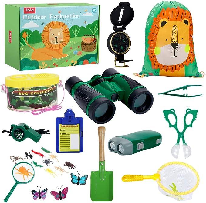25 pièces cadeau d/'anniversaire pour 3-12 ans Uttora Outdoor Explorer Kit enfants jouets