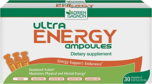 Adrien Gagnon – Ultra Energy, Maca Ginseng, for Energy Support and Endurance, 30 Plastic ampoules