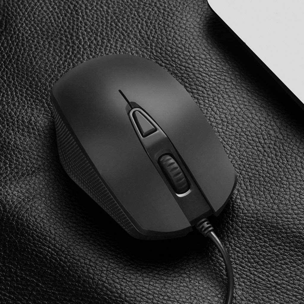 USB Port Feels Comfortable Mute and Smooth Mouse Wired Computer Mouse Suitable for PC//Tablet//Laptop L105mm /× W73mm /× H32mm