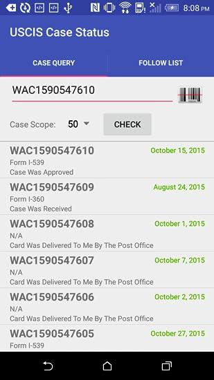 Amazon com: USCIS case status: Appstore for Android