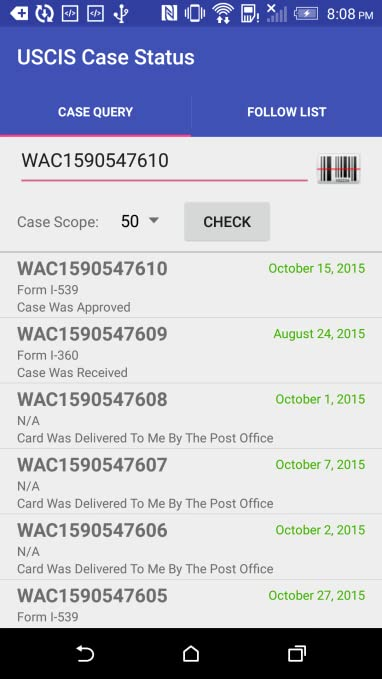 amazoncom uscis case status appstore for android