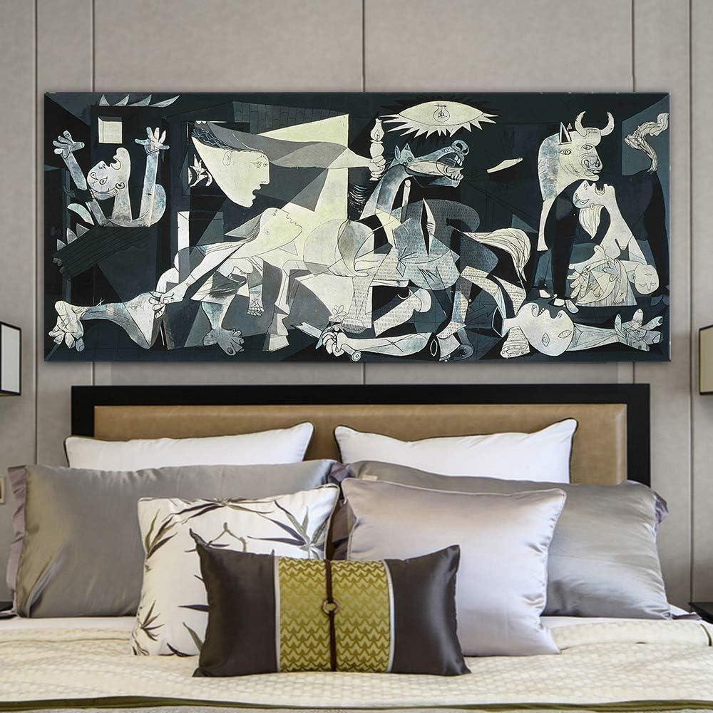 DIY Pintura Digital Picasso Guernica Pinturas de Arte Famoso sobre Lienzo Arte Picasso Pintura de Pared Decoración para el hogar 40x50cm Sin Marco