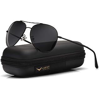 8ed8efc0a1 LUENX Aviator Sunglasses Womens Polarized Mirror with Case - UV 400  Protection 60MM