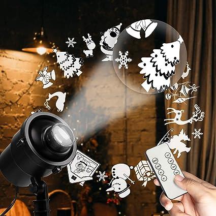 Amazon.com: Luces de proyector LED de Navidad: Jardín y ...