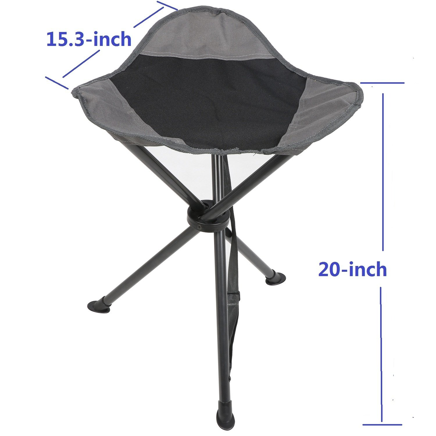 PORTAL Tall Slacker Chair Folding Tripod Stool for Outdoor Camping Walking Hunting Hiking Fishing Travel, Support 225 lbs by PORTAL