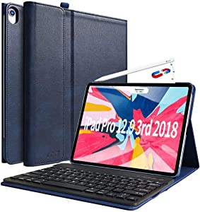 iPad Pro 12.9 Case with Keyboard 2018 3rd Gen - COO Wireless Bluetooth Keyboard - Support Apple Pencil Charging - Magnetic Cover - Not for 2017/2015 Released 12.9""