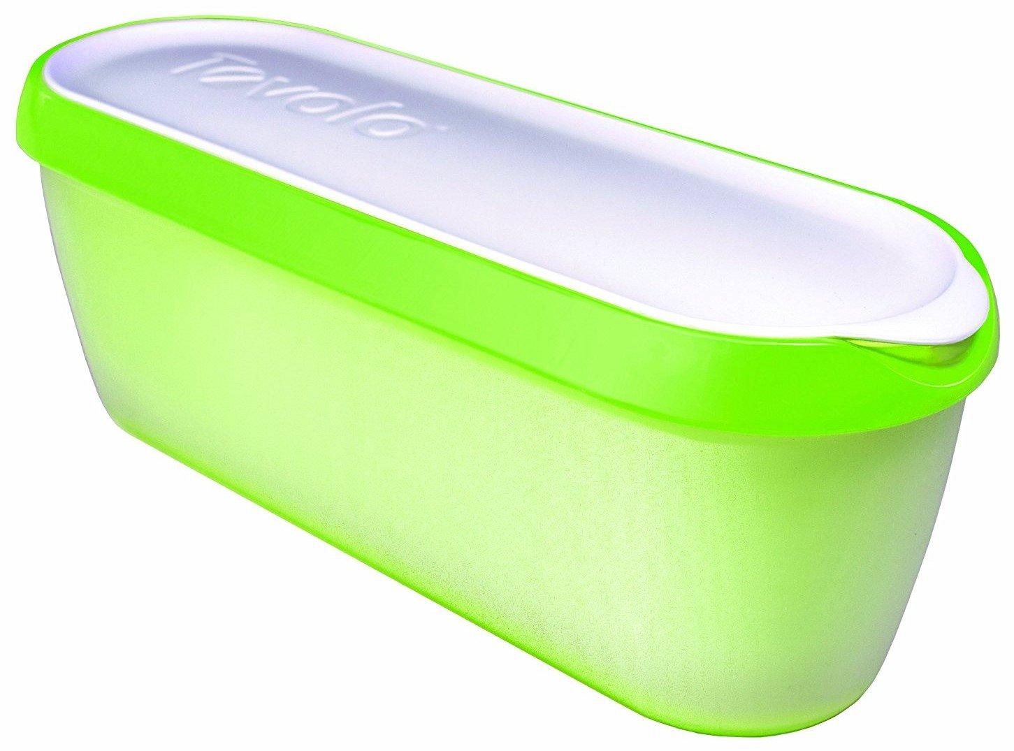 Tovolo Glide-A-Scoop, Non-Slip Base, Insulated Ice Cream Tub, 1.5 Quart, Pistachio