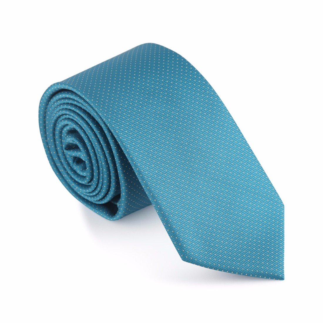 HXCMAN 6cm turquesa verde lunares estrecha corbata Diseño clásico ...