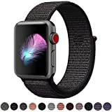 HILIMNY For Apple Watch Strap 38MM 42MM, Soft Nylon iwatch Strap, Replacement for Apple Watch Sport, Series 3, Series 2, Series 1, Nike+, Edition, Hermes