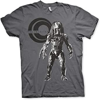 Predator Officially Licensed Standing Mens T-Shirt (Darkgrey)