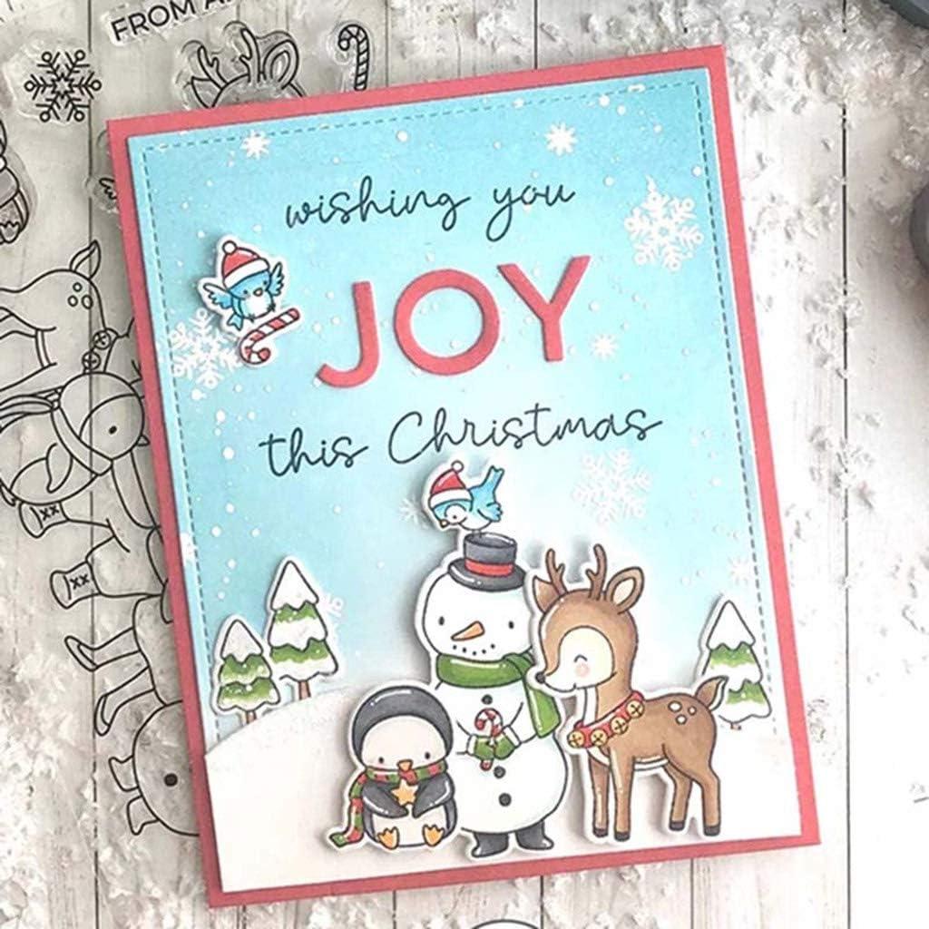 Clearstempel Stanzschablonen F/ür Scrapbooking Karten DIY Frohe Weihnachten Stempel Xurgm Stempel Weihnachten,Clearstamp Weihnachten Kinder Weihnachten Geschenke Silikonstempel Winter