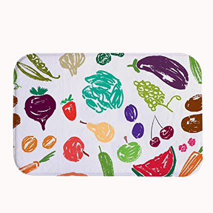 Amazon.com: xasan decorativo Frutas y Verduras Pattern ...